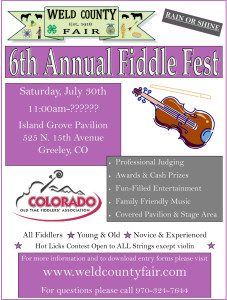 Weld County Fair Fiddle Fest, July 30, 2016