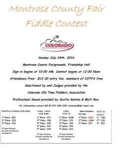 Montrose County Fair Fiddle Contest, July 24, 2016