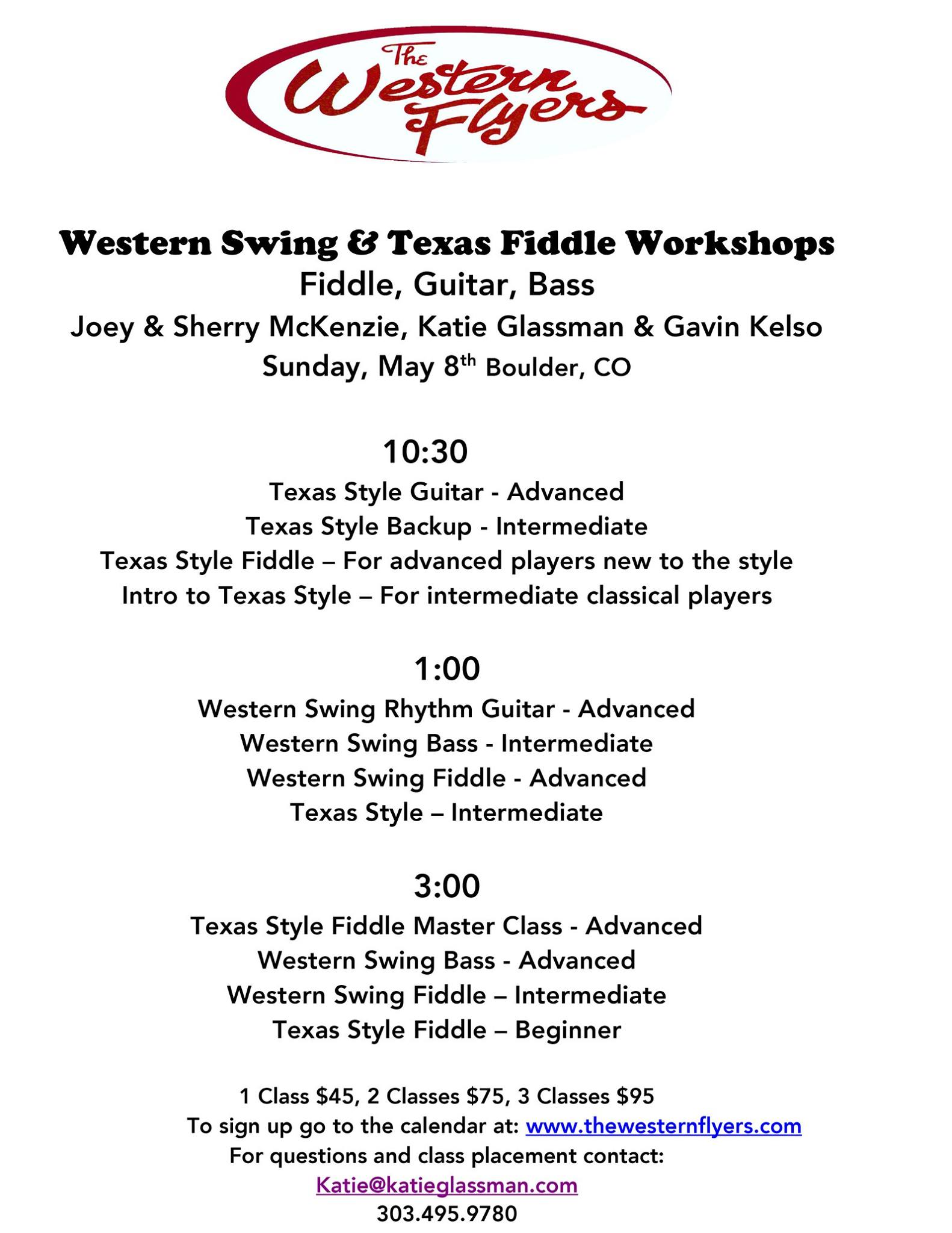 Western Swing & Texas Fiddle Workshops - Colorado Old Time