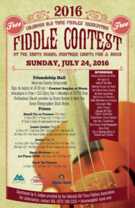 Montrose County Fair Fiddle Contest, July 23, 2017