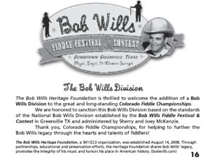 Bob Wills Fiddle Division